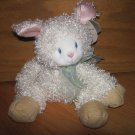 First & Main Cream White Curly Plush Lela Lamb 6743 Sheep Beige Corduroy Feet Pink  Ears
