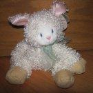 First & Main Cream White Curly Plush Lela Lamb 6743 Sheep Beige Corduroy Feet Pink  Ears
