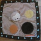 Little Mismatched Smart Nursery Baby Tan Brown Beige Polka Dot Circle Monkey Security Blanket Lovey