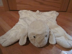 Baby Gund Cream Comfy Cozy Lamb Security Blanket Lovey Satin Foot Pads 5865
