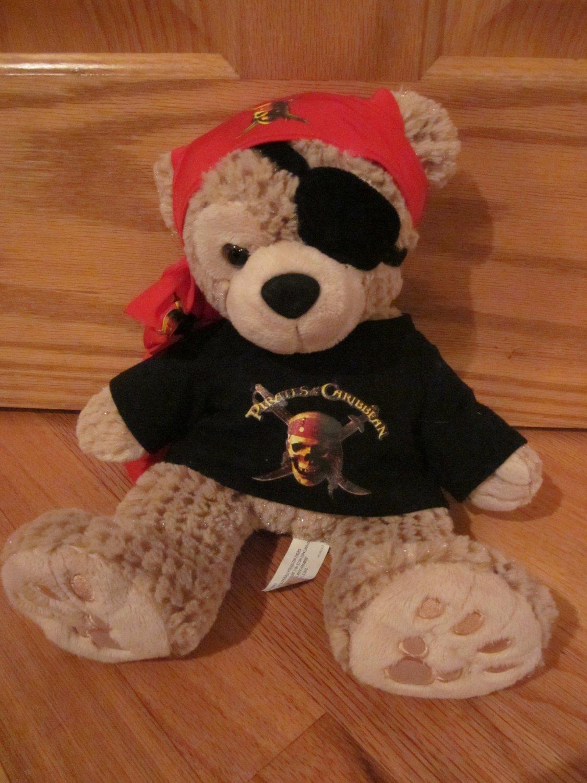 Walt Disney Hidden Mickey Plush Tan Beige Teddy Bear