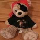 Walt Disney Hidden Mickey Plush Tan Beige Teddy Bear Pirates of the Caribbean Theme