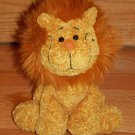 Cuddle Factory Golden Orange Plush Sitting Lion Black Smile Flocked Nose