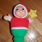 Playskool 2005 Silent Night Gloworm Glo Worm Musical Red Green English Spanish 08100