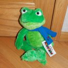 Toys R Us Plush Green Time Square I Heart NY Frog Toy Blue Scarf