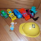 Bob the Builder Talking Vehicle Set Lot with Bob Roley Scramble Lofty Scoop Muck Travis Dizzy
