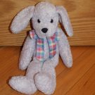 Commonwealth Lavender Purple Pastel Plush Puppy Dog Plaid Ribbon Long Dangle Legs
