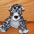 Kellytoy Bean Pals Plush Blue Black Spotted Leopard Kitty Cat Toy