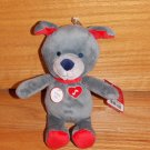 Carter's Just One You Puppy Dog Talking I Love You Plush Baby Toy Gray Red Valentine