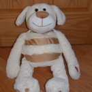 Jay At Play Mushabelly Chatter Plush Cream Microbead Puppy Dog Named Laddy Squeak Sound Toy