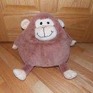 Jay At Play Mushable Pot Belly Plush Brown Microbead Monkey