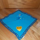 Baby Boom Blue Elephant Lovey Musical Security Blanket Rock a Bye Yellow Heart