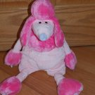 Manhattan Toys 2004 Plush 20 Inch Pink Poodle Purple Nose