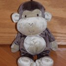 Carters Just One Year Brown Tan Beige Plush Monkey