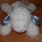 Zondervan Corporation Plush Cream Ivory Curly Lamb Sheep Silver Satin Ears God Bless You