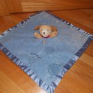 Carters Blue Puppy Dog Woof Security Blanket Lovey Circles X18973H