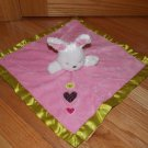 Carters Just One You Bunny Rabbit Security Blanket Baby Hearts Pink Lovey Rattle Y23500H