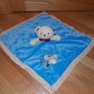 Carters Little Rookie Blue Tan Suede Sports Teddy Bear Security Blanket Lovey X20059H