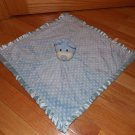 Breathe Easy Baby Animal Adventure Blue Polka Dot Teddy Bear Security Blanket Lovey L3144C