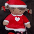 Carters Precious Firsts Dark Skinned African American Christmas Holiday Doll Red Heart Dress 63031