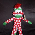 Target Animal Adventure Red Dot Knit Sock Monkey Wearing Hat