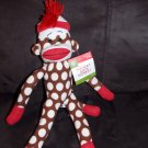Target Animal Adventure Brown Dot Knit Sock Monkey Wearing Hat