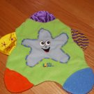 First Years Learning Curve Baby Green Star Teething Blanket Lovey
