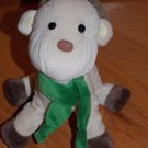 Carters Just One Year Plush Beige Tan Reindeer with Green Scarf