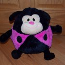 Jay At Play Mushable Pot Belly Plush Pink Black Microbead Ladybug