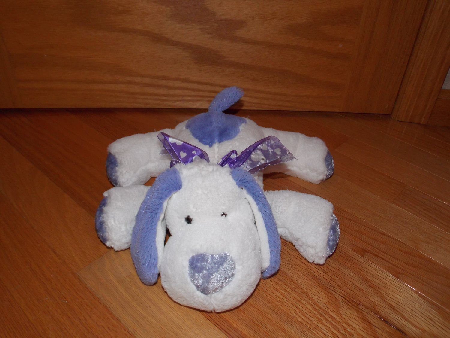 Best Made Toys Purple White Puppy Dog Heart Nose Bow