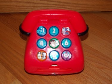 Blues Clues 1999 Mattel Red Talking Light Up Telephone