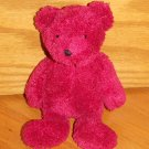 ASI Plush Pink Purple Red Chenille Teddy Bear Toy 62960