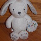 Prestige White Gray Plush Bunny Rabbit Rattle Stitched Paws Whiskers 95689