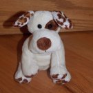 World Market Cost Plush Plush Cream Brown Puppy Dog Barks Leopard Print Spots
