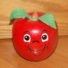 Vintage Fisher Price 1972 Happy Apple #435 Chime Baby Toy Short Cut Stem