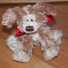 Gund Plush Puppy Dog Named Mini Snooky #88570 Red Satin Bow