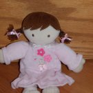 Just One Year Doll Pink Nightgown Flowers Brown Braids Eyes Bare Feet 98676 FLAW