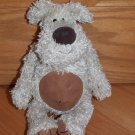 Jellycat Beige Tan Plush Shaggy Bunglie Puppy Dog Brown Tummy Feet Corduroy Nose