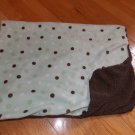 Koala Baby Brown Mint Green Polka Dot Blanket Minky Sherpa 3748107K7
