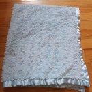 Walmart George Blue Minky Swirl Fur Satin Baby Blanket BLRP-BL