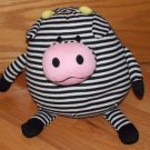 Jay At Play Mushable Pot Belly Plush Black White Striped Microbead Cow