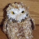 Douglas Cuddle Toys Plush 7 Inch Brown Owl Yellow Eyes