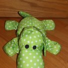 Smooshie Dogs Green White Polka Dot Microbead Puppy Dog
