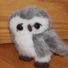 Curto Toy MFG Plush 6 Inch Gray White Brown Plush Owl Toy