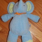 Carters Just One You Plush Blue Musical Elephant Brown Feet Green Ears Orange Bow Ribbon 92242