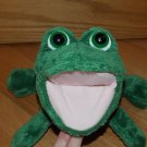 Russ Berrie Plush Green Hand Puppet Named Fay Makes Croaking Sound 34036