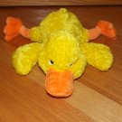 Target Corporation Plush Yellow Laying Duck Orange Feet 78792