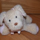 Eden Tan Beige Plush Musical Wind Up Puppy Dog Pink Waffle Thermal Ears Feet Ribbon