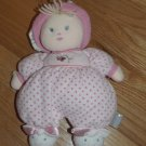 Carters Pink Plush Polka Dot Terry Cloth Blond Doll Bunny Slippers Flower Butterfly 76161