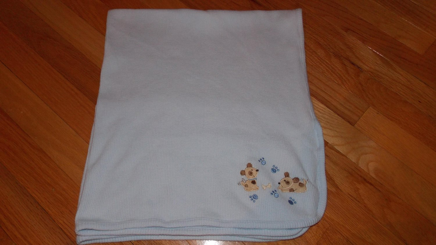 Koala Baby Blue Puppy Dog Paw Print Thermal Knit Baby